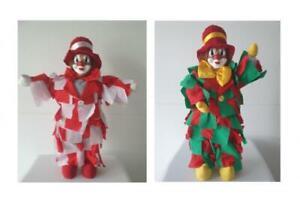 Clown Clowns Harlekin Kasper Karneval Fastnacht Deko Dekoclown Puppe Fetzen
