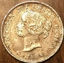 1900 CANADA SILVER 5 CENTS - Round 00 variety - Scratched but in great details!