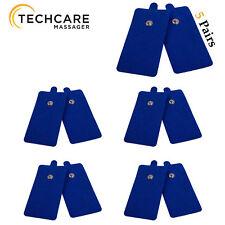 Reusable Tens Unit Pads 10 Pieces Premium Quality Medical Grade Blue X Large