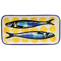 "Hand-painted Portuguese Ceramic 10"" Inches Serving Platter - Various Colors"