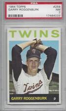 1964 Topps baseball card #258 Garry Roggenburk, Minnesota Twins PSA 7 Near Mint