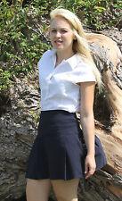 Girls Size 12 School skirt School uniform stretchy short length Navy Blue