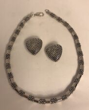 """Ross Simons 18"""" Necklace & Matching Clip-on Earrings"""