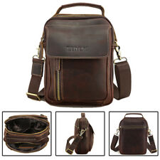 Gift Genuine Leather Men Vintage Shoulder Messenger Crossbody Sling Bag SATCHEL