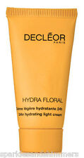Decleor HYDRA FLORAL 24Hr Hydrating LIGHT Cream Moisturiser 15ml TRAVEL SIZE