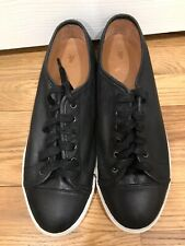 FRYE Mindy Black Leather  Lace Up sneakers women's Size  10.