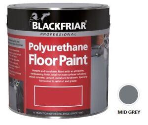 Sale Blackfriar Polyurethane Floor Paint Indoor Outdoor Hard Wearing Mid Grey 5L