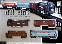 Classical Rail King Toy Train Set With Light Function Battery Operated Kids Gift