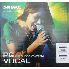 Shure Blx24e/pg58 Radiomicrofono a mano professionale per Canto o Parlare