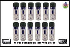 U-pol Power Can SATIN BLACK 500ml Paint Aerosol Upol x 12 Powercan PCSB