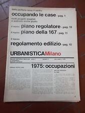 URBANISTICA MILANO n°4 anno I -OTTOBRE 1975 MENSILE IST.NAZIONALE URBANISTICA