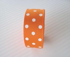 "7/8"" Grosgrain Ribbon~POLKA DOTS~  You Pick the Color~ Lot 5 Yards"