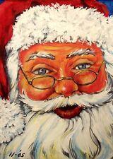 Santa Claus, Saint Nicholas, Santa, Kris Kringle, Christmas,  ACEO  by Vicki