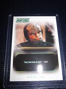 STAR TREK NEXT GENERATION THE QUOTABLE PROMO CARD P2