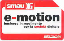SMAU 2001 E - MOTION SCHEDA TELEFONICA TELECOM 1460 USATO