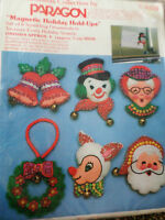 Paragon Christmas Tree Felt Applique Holiday Craft ORNAMENT KIT,MAGNET,6416