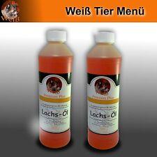 Weiß Premium-Plus Lachs-Öl 2 x 500ml - Markenprodukt - Premium - Barf