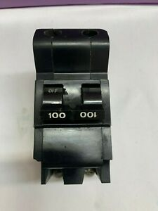 FEDERAL PACIFIC ELECTRIC  100-AMP CIRCUIT BREAKER 2-POLE BOLT ON TYPE NB 240V