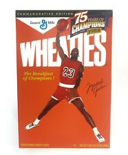 Michael Jordan Wheaties 75 Years Commemorative Edition Sealed Cereal  Box  Full