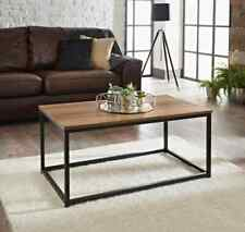 Wooden Top And Metal Frame Tromso Contemporary Coffee table