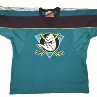 Mighty Ducks Mens NHL Pro Player Jersey Size Large