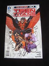 Teen Titans 0 DC New 52 Signed Scott Lobdell Norm Rapmund NM/NM+ Condition