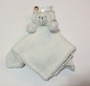 Blankets & Beyond Adorable Nunu Bear Soft Plush Lovey Baby Security Blanket NWT