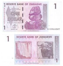 Zimbabwe 1 Dollar 2007 P-65 Prefix 'AC'  Banknotes  UNC