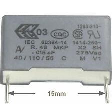 4 St Entstörkondensator AV MKP X2 0,015µF 15nF 275/300VAC RM15 Rohs konform