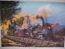 """Railroad Art, Winfield,""""The Chili Line at Santa Fe"""", DRGW #476,18X24"""",s/n, new"""