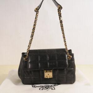 MCM Leather Quilt Shoulder Bag Authentic + Dust Bag