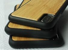 Bamboo wood Apple iphone XR case wooden back cover luxury TPU shockproof IRISH