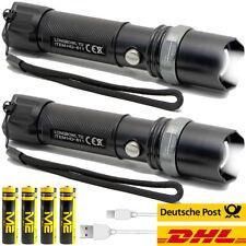2x Led Taschenlampe echte M2-Tec CREE LED taktische Polizei Swat Military Torch