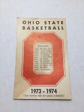 Ohio State Buckeyes NCAA Basketball Pocket Wallet Schedule Vintage 1973 1974