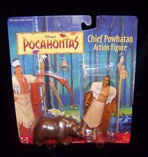 Disney Pocahontas Chief Powhatan Action Figure with Bear PVC 1990s Vintage NIP