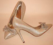 Tamaño 3 36 Oro Brillante Diamante Nupcial ocasión especial Tribunal Zapatos
