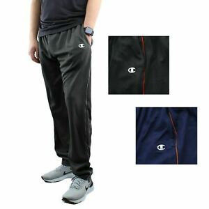 Champion Men's Athletic Pants Mesh Activewear Training Sports One Stripe