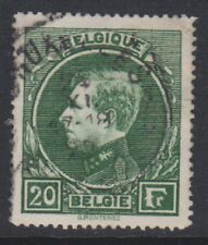 Belgium - 1929, 20f Bright Green - Perf 14 1/2 - Used - SG 502