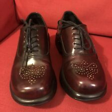 Dansko Leather Lace Up Oxford Shoes Women's Size 39 (Cranberry Wine) Adorable