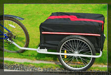 BICYCLE BIKE CARGO TRAILER CART CARRIER BLACK & RED UTILITY FREE SHIPPING