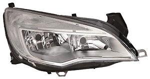 VAUXHALL ASTRA J 2010 - 2012 HEADLAMP HEAD LIGHT RIGHT DRIVER SIDE OE 13253657