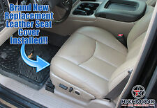 2004 Chevy Silverado 1500 2500 HD LT -Driver Side Bottom LEATHER Seat Cover Tan