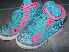 Naartjie HighTop Shoes Boots Lacy 2 Embroidery Zipper Laces sz 12 used