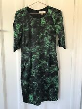 Country Road Silk dress green black cocktail size 10 AU