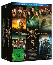 Pirates of the Caribbean Part 1 2 3 4 5 Blu-Ray Box Collection