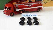 DINKY TOYS Lot de 6 pneus 18/8 noir pour  panhard citerne titan Esso réf 32C