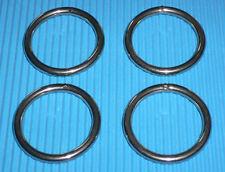 1201-4 Ringe 30mm i.D. Edelstahl 4 Stück 4mm stark V4A