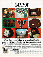 PUBLICITE ADVERTISING 064  1969  QUELLE   magasin vente par correspondance