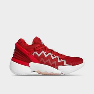 Womens Adidas D.O.N Issue 2 Basketball Shoes Donovan Mitchell Red White FW8511