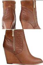 Mimco 💗 👠👠👠 New Alma Cognac  $299 Boots Wedges Heels Sandals Shoes 39 Or 8